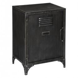 Table de chevet en métal 1 porte SEVIN - Noir