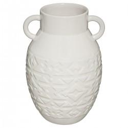 Vase en céramique H25cm HACIENDA - Blanc cassé