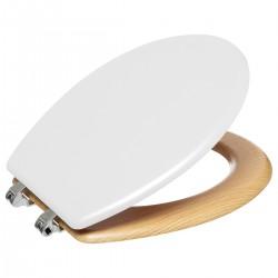 Abattant WC en bois et zinc MODERN COLOR - Blanc