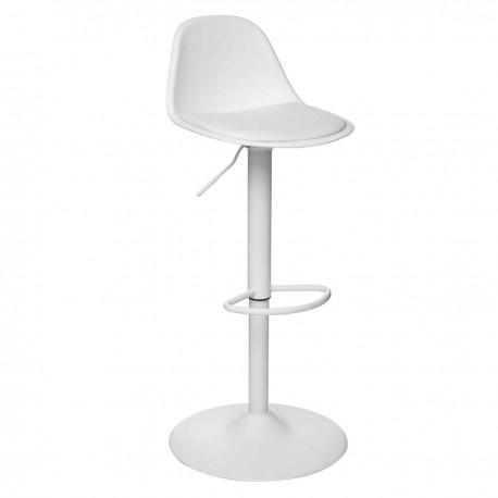 Chaise de bar ajustable H103cm AIKO - Blanc