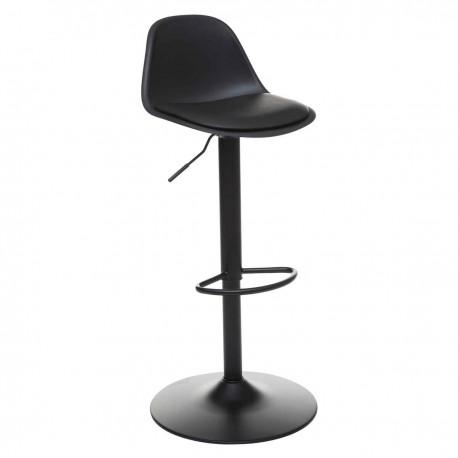 Chaise de bar ajustable H103cm AIKO - Noir