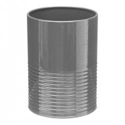 Pot/Égouttoir à ustensiles en métal - Gris