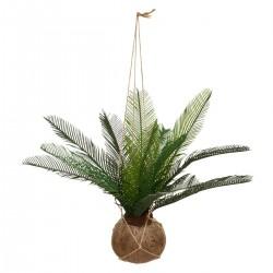 Palmier artificiel en pot coco à suspendre H50cm THE CUBA FACTORY - Vert