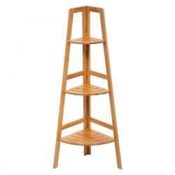 Étagère d'angle à 3 niveaux en bambou SICELA - Bambou