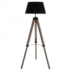 Lampadaire à trépied H145cm RUNO - Noir