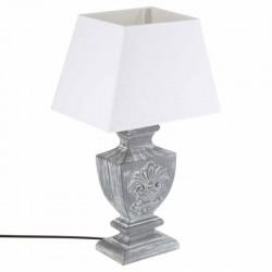 Lampe en bois H50cm PATINE - Gris