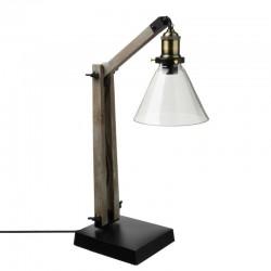 Lampe abat-jour en verre H59cm ALAK, ESPRIT RÉCUP