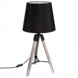Lampe en bois trépied H58cm RUNO - Noir