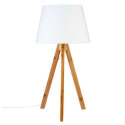 Lampe en bambou H55cm BAHI - Blanc