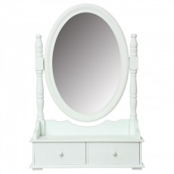 Miroir range bijoux H75cm - Blanc