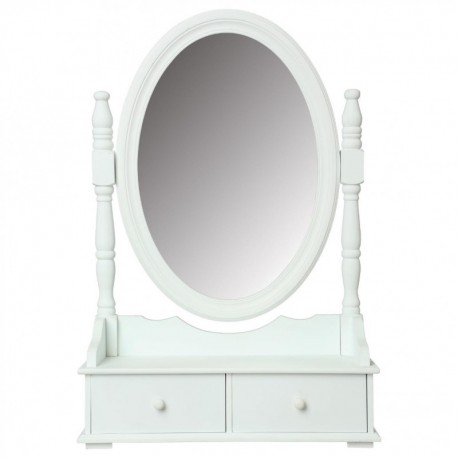 miroir range bijoux h75 blanc veo shop. Black Bedroom Furniture Sets. Home Design Ideas