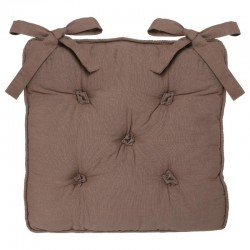 Galette de chaise 5 boutons - Taupe