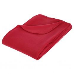 Plaid polaire 125X150cm - Rouge