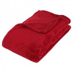 Plaid microfibre 150X125cm - Rouge