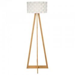 Lampadaire en bambou & papier MOKI
