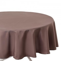 Nappe ronde anti-tâche D180 - Taupe