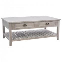 Table basse en bois ESPRIT CAMPAGNE - Beige vieilli