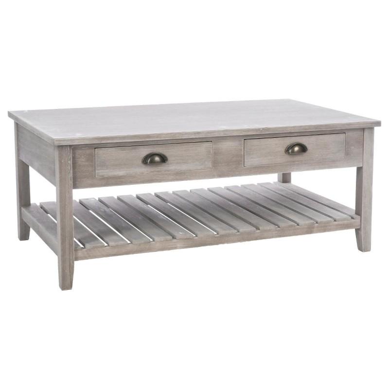 table basse en bois esprit campagne veo shop. Black Bedroom Furniture Sets. Home Design Ideas