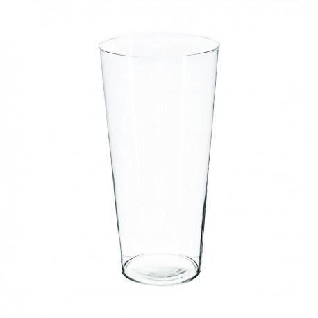 Vase conique H30cm - Transparent