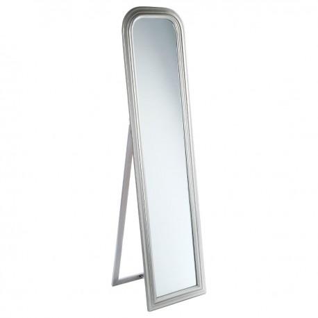 Miroir sur pied en bois 160x40cm argent veo shop for Miroir 40x160