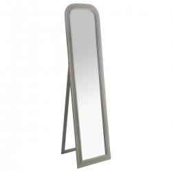 Miroir sur pied en bois 160X40cm ADELE, MEMORIES - Blanc