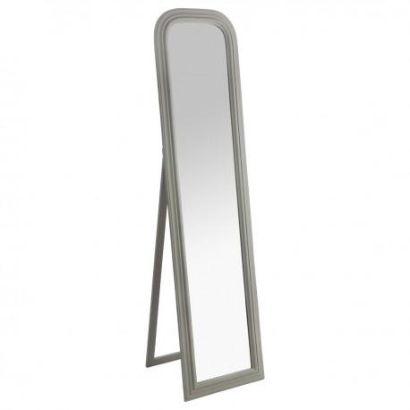 Miroir sur pied en bois 160X40cm ADELE, MEMORIES - Blanc - Veo shop