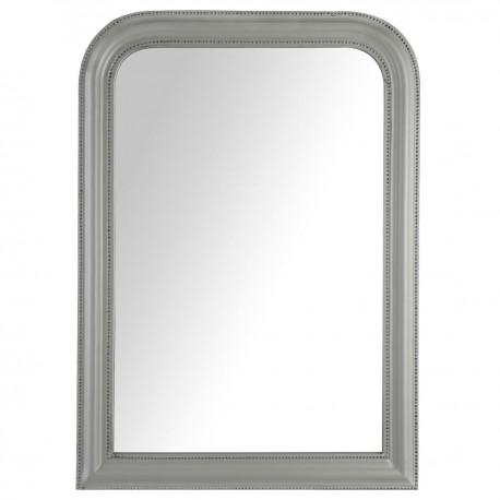 Miroir arrondi en bois 104x74cm adele memories gris veo shop for Miroir arrondi