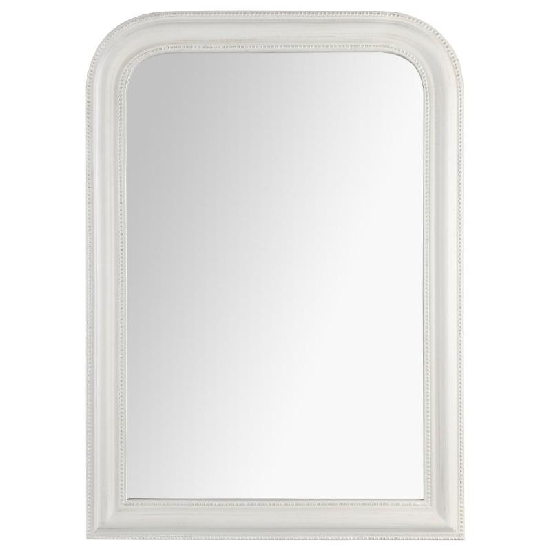 Miroir arrondi en bois 104x74cm adele memories blanc veo shop for Miroir arrondi