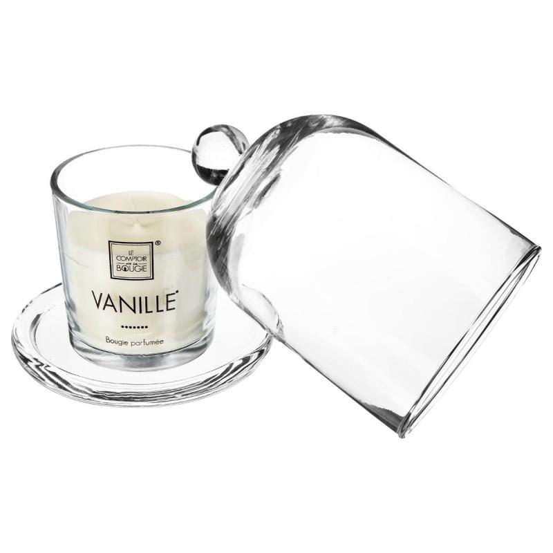bougie parfum e sous cloche 120g vanille veo shop. Black Bedroom Furniture Sets. Home Design Ideas
