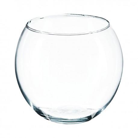 Vase en boule transparent D15