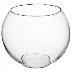 Vase en boule transparent D25