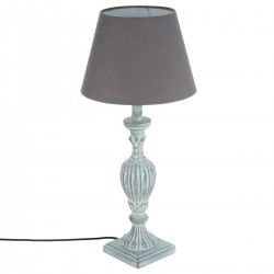 Lampe en bois H56 PATINE, MEMORIES - Gris
