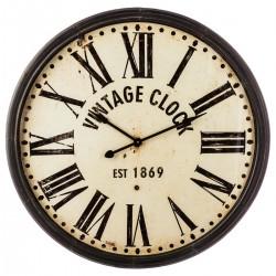 Pendule en métal marron vintage D113
