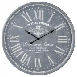 Pendule gravée D78cm - Gris