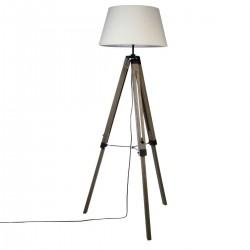 Lampadaire à trépied H145cm RUNO - Lin