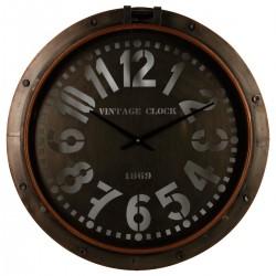 Pendule en métal D73,5cm HUBLOT, ESPRIT RÉCUP - Marron