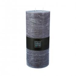 Bougie rustique ronde 32X14cm - Gris