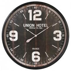 Pendule en métal D90cm HOTEL, ESPRIT RÉCUP - Noir
