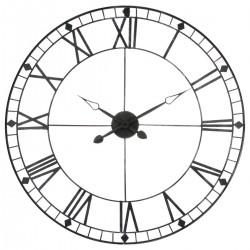 Pendule en métal vintage D88cm - Gris