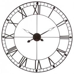Pendule en métal vintage D88cm - Marron
