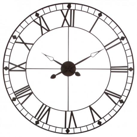 Pendule en métal vintage D88cm - Marron - Veo shop