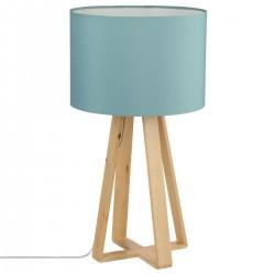 Lampe sur pieds en bois H47,5cm MOLU - Bleu