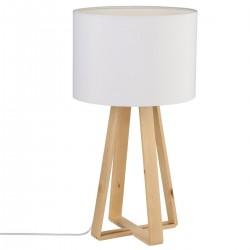 Lampe sur pieds en bois H47,5cm MOLU - Blanc