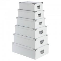 Lot de 6 boîtes - Blanc