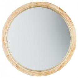 Miroir rond en bois D50cm HAPPY SCANDINAVE