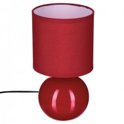 Lampe boule en céramique H25cm - Rouge