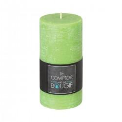 Bougie rustique ronde H14 - Vert
