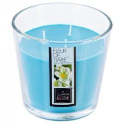 Bougie parfumée à 3 mèches en verre 500g - Fleur de tiaré