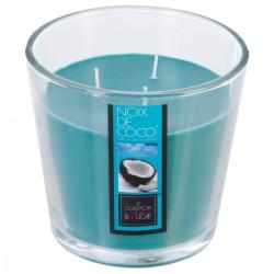 Bougie parfumée à 3 mèches en verre 500g - Noix de coco