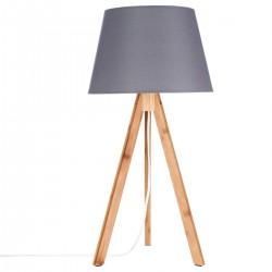 Lampe en bambou H55cm BAHI - Gris